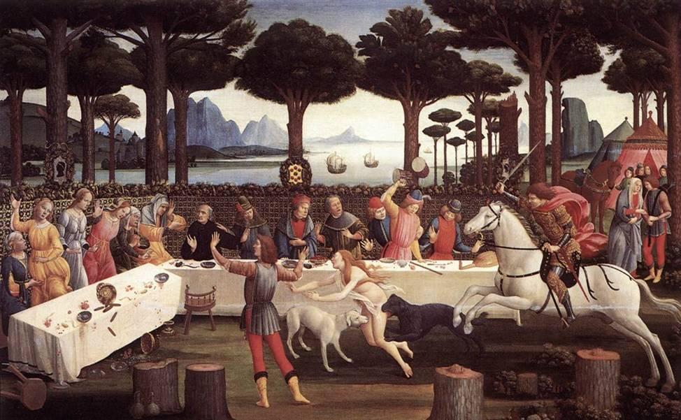 Boccaccio, Nastagio degli Onesti (testo originale)