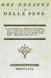Beccaria, Della Pena di Morte